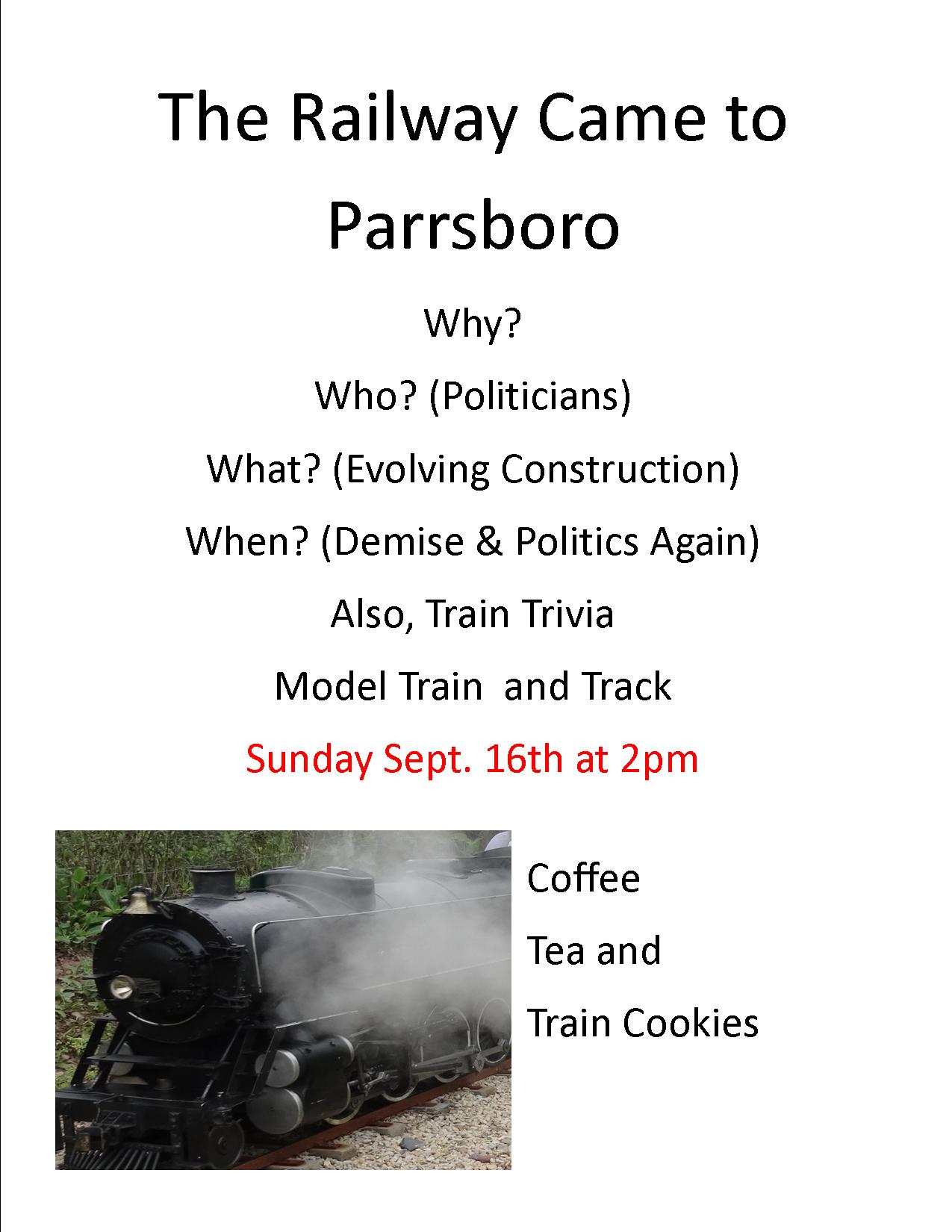 The Train Came to Parrsboro